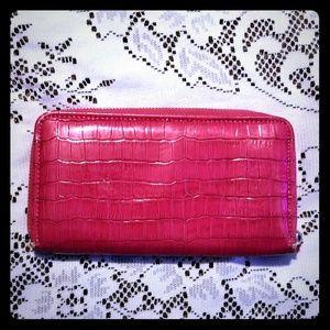 Pretty Pink Wallet w/ Zip Closure